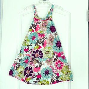 Girls dress, straps, pom-pom detail, EUC